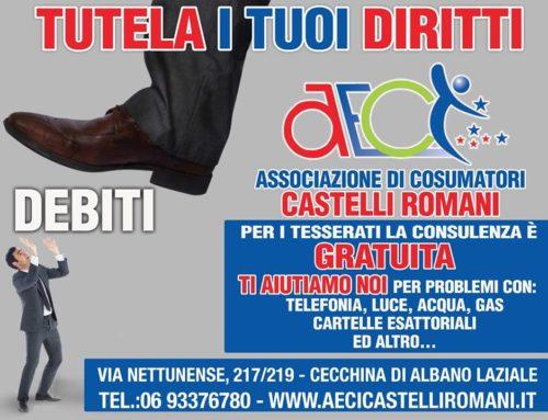 TUTELA DEL CONSUMATORE A.E.C.I. CASTELLI ROMANI